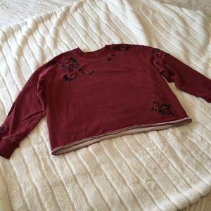 Madewell floral sweatshirt